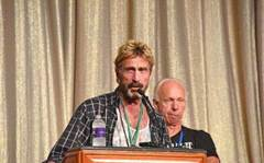 John McAfee is apparently on the run again