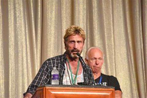 John McAfee is apparently on the run again, this time from the SEC over his support for cryptocurrencies
