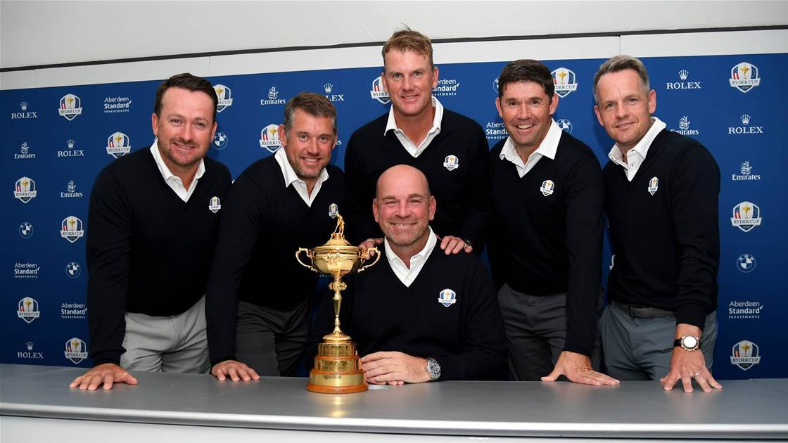 Bjorn names Europe's vice-captains for 2018 Ryder Cup