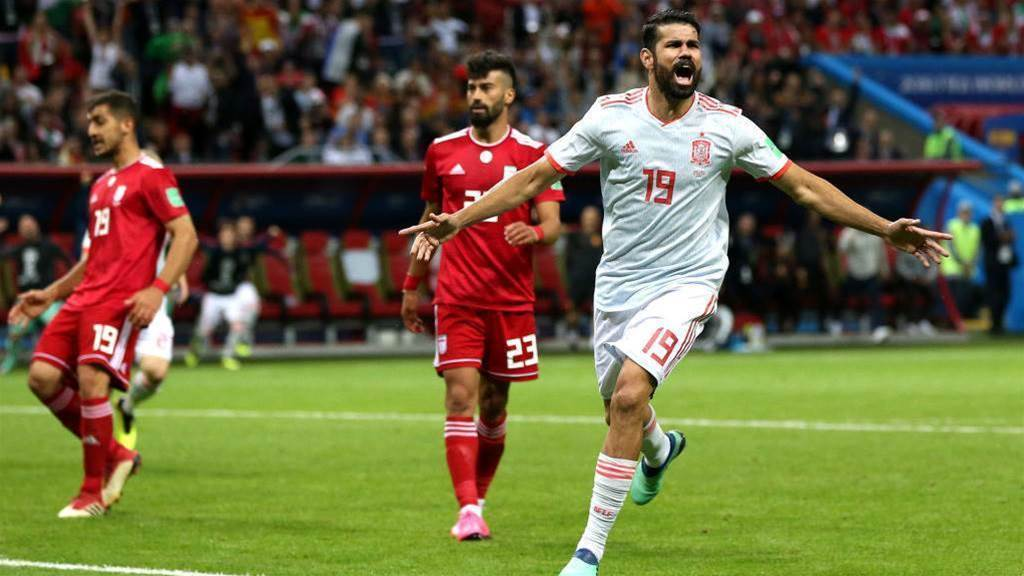 Costa's goal earns Spain 1-0 win against Iran