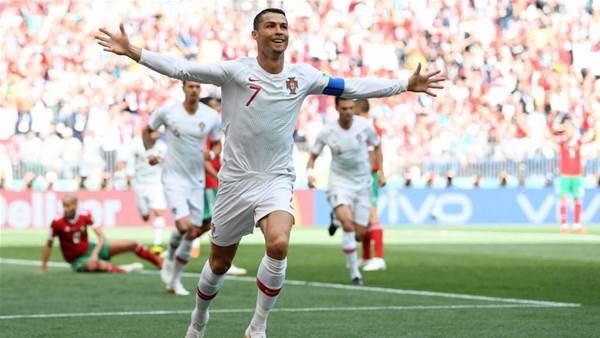 Ronaldo scores record-breaking header as Portugal beat Morocco