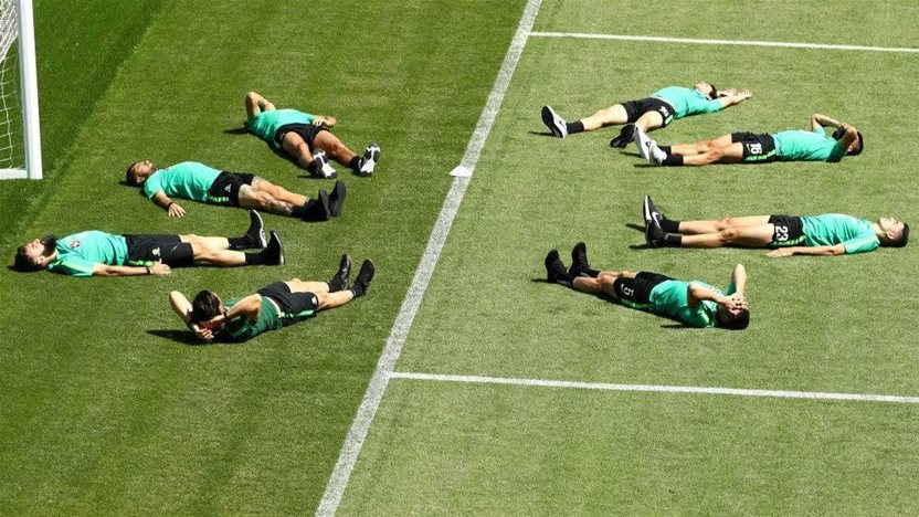 What would you be doing if you weren't at the World Cup, lads?