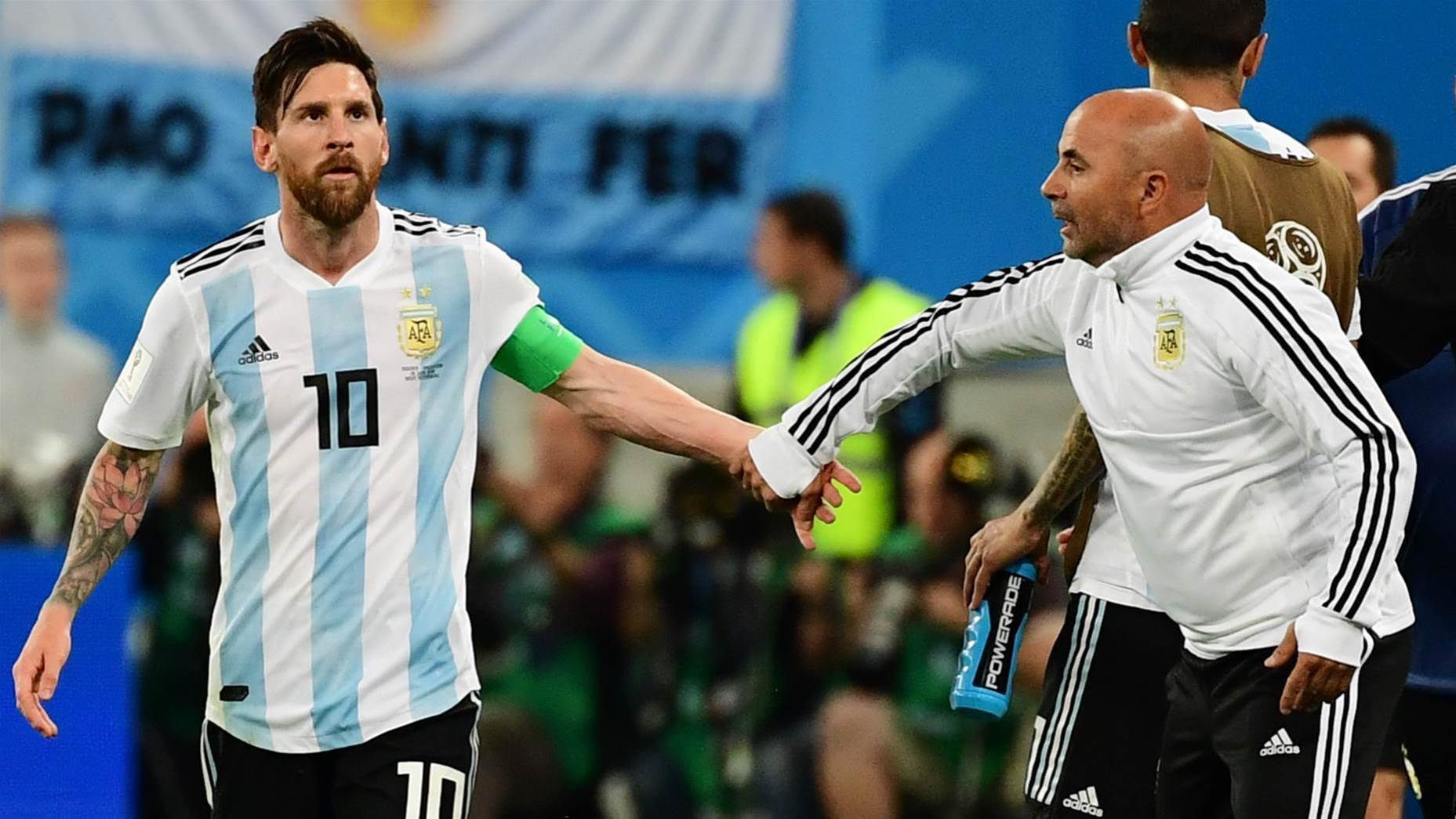 Sampaoli 'asked Messi' for advice on Aguero sub