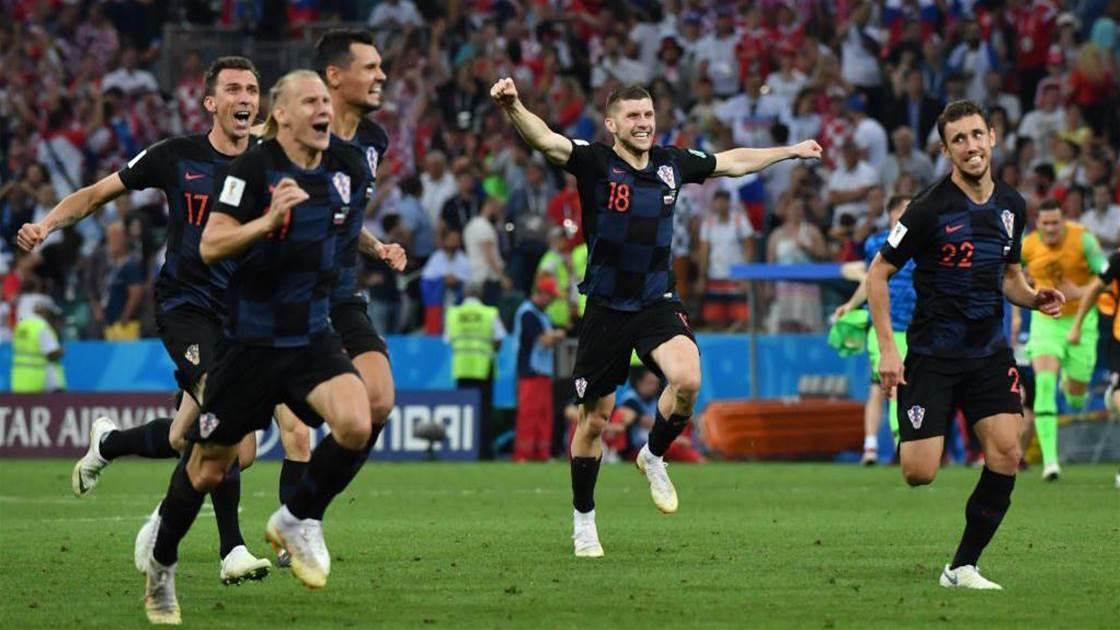 Croatia beat Russia on penalties to set up England semi-final Clash