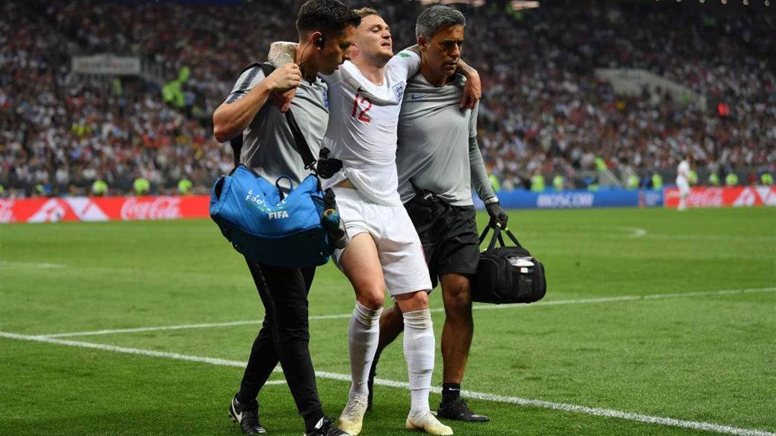 Injured Trippier leaves pitch before end of Croatia semi-final