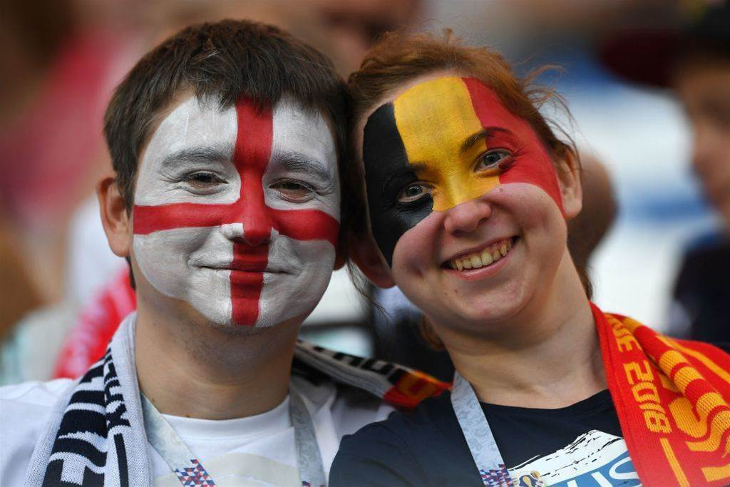 Over 64,000 fans attend third place play-off between England and Belgium