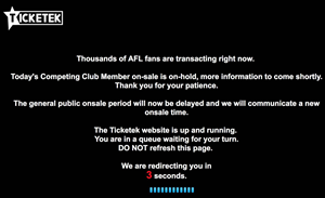 Ticketek blames load balancing mishap for AFL meltdown