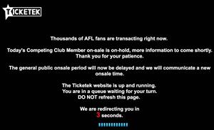 Ticketek blames load balancing mishap for AFL meltdown