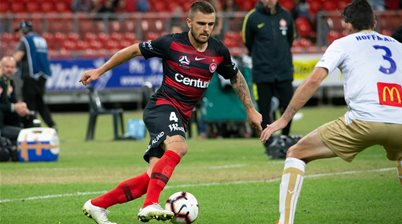 Thump...back to earth for Socceroo Josh Risdon