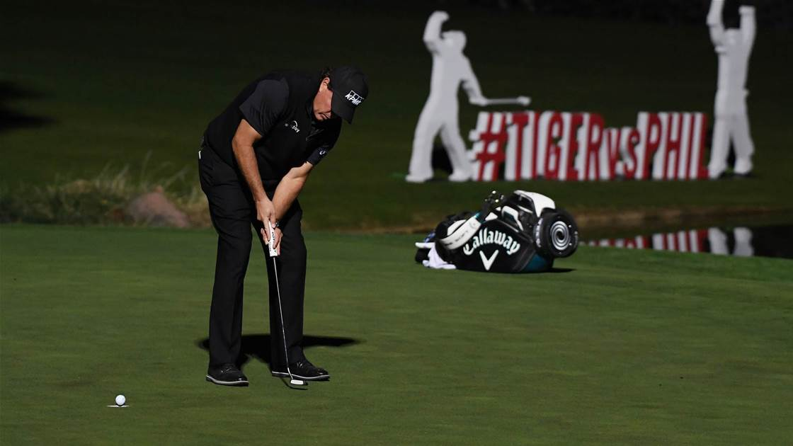 Mickelson beats Woods in The Match