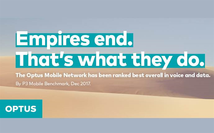 """Telstra loses appeal on Optus' """"Empires End"""" ad campaign"""