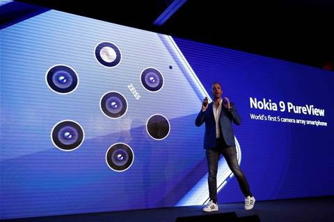 Nokia debuts smartphone with five cameras