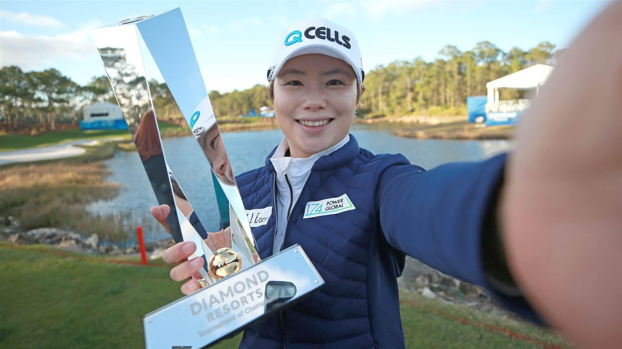 Ji battles her way to win LPGA Tour opener