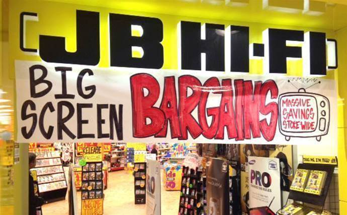 JB Hi-Fi took $3.8 billion in six months