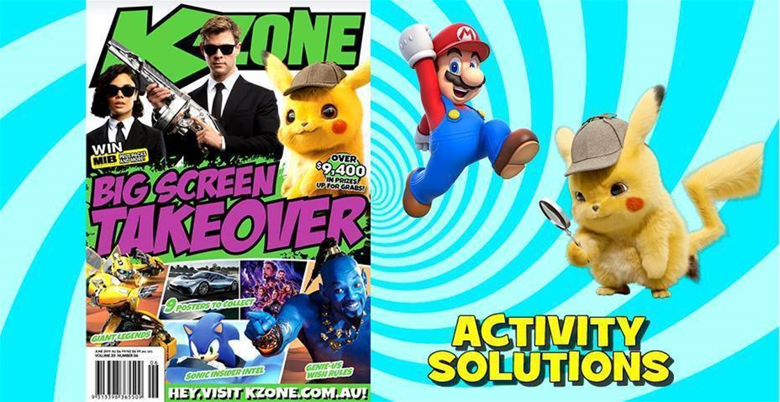 JUNE 2019 ISSUE ACTIVITY SOLUTIONS