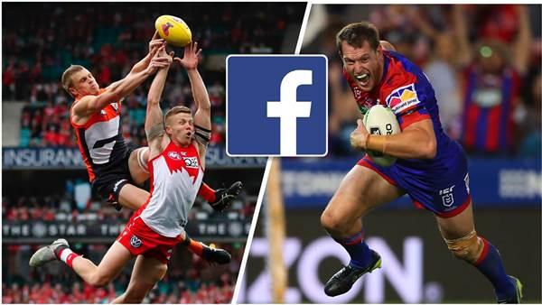Facebook to show AFL, AFLW, NRLW and NRL