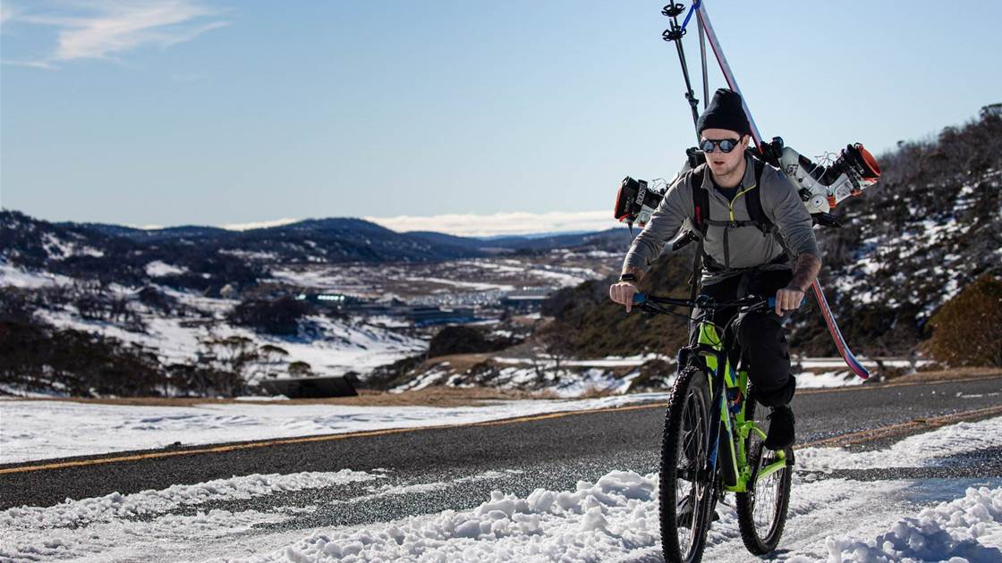 Climbing High: bike to ski and back again