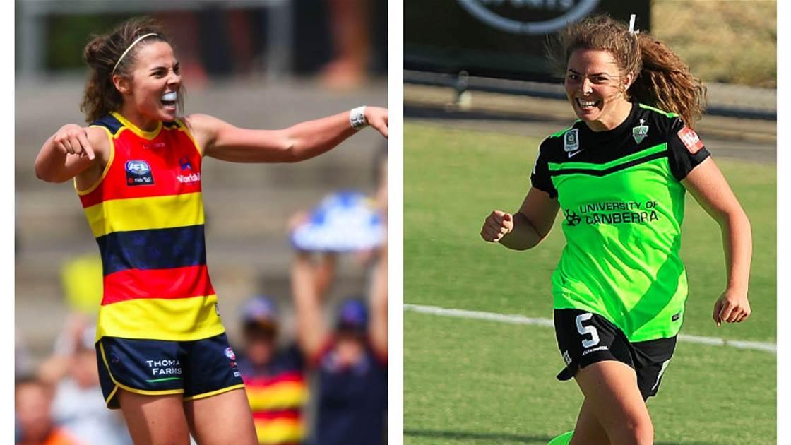 'I'm pursuing football over AFL to represent Matildas': Victory sign AFLW star