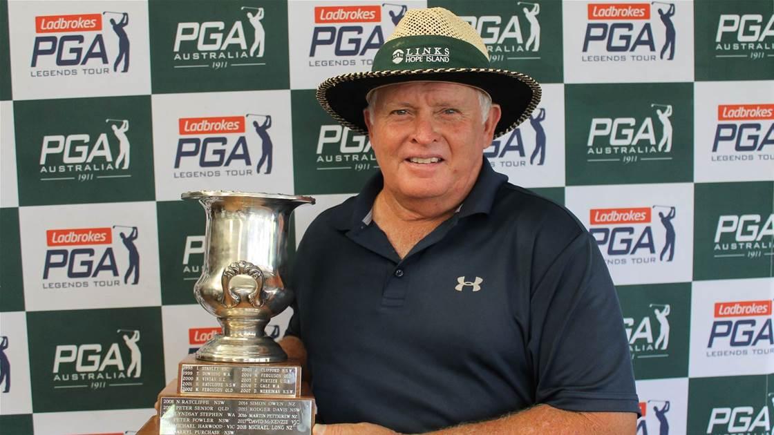 Senior wins maiden Australian PGA Seniors title