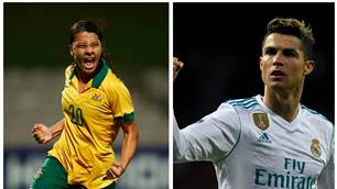 'Yessssss!' Cristiano Ronaldo is a big Sam Kerr fan