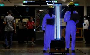 Singapore mall trials UV robot to zap coronavirus