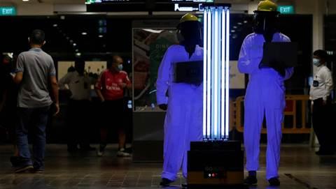 Singapore mall trials UV robot to zap coronavirus