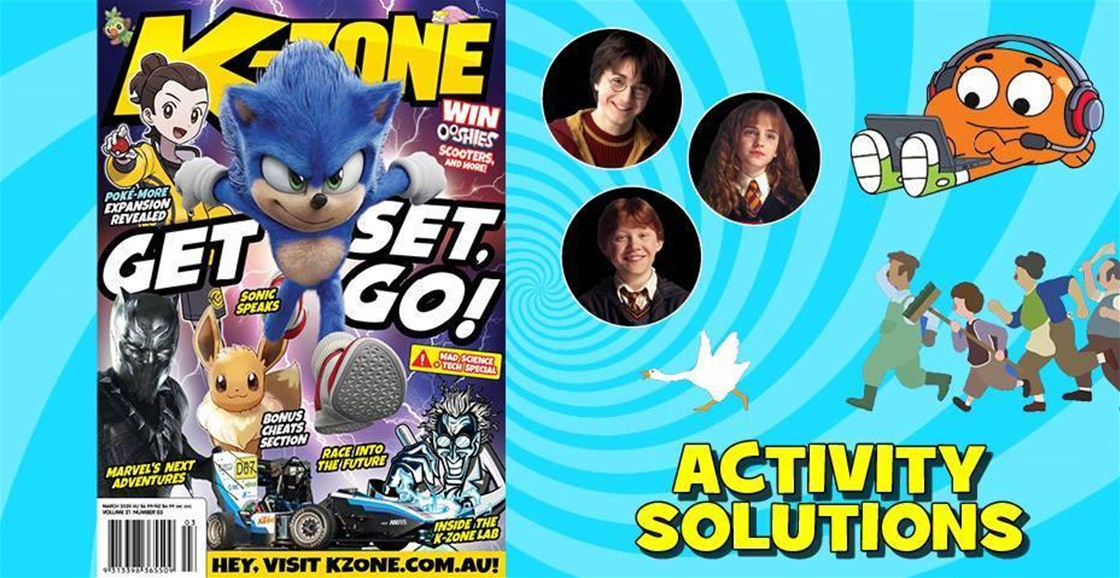 MARCH 2020 ISSUE ACTIVITY SOLUTIONS