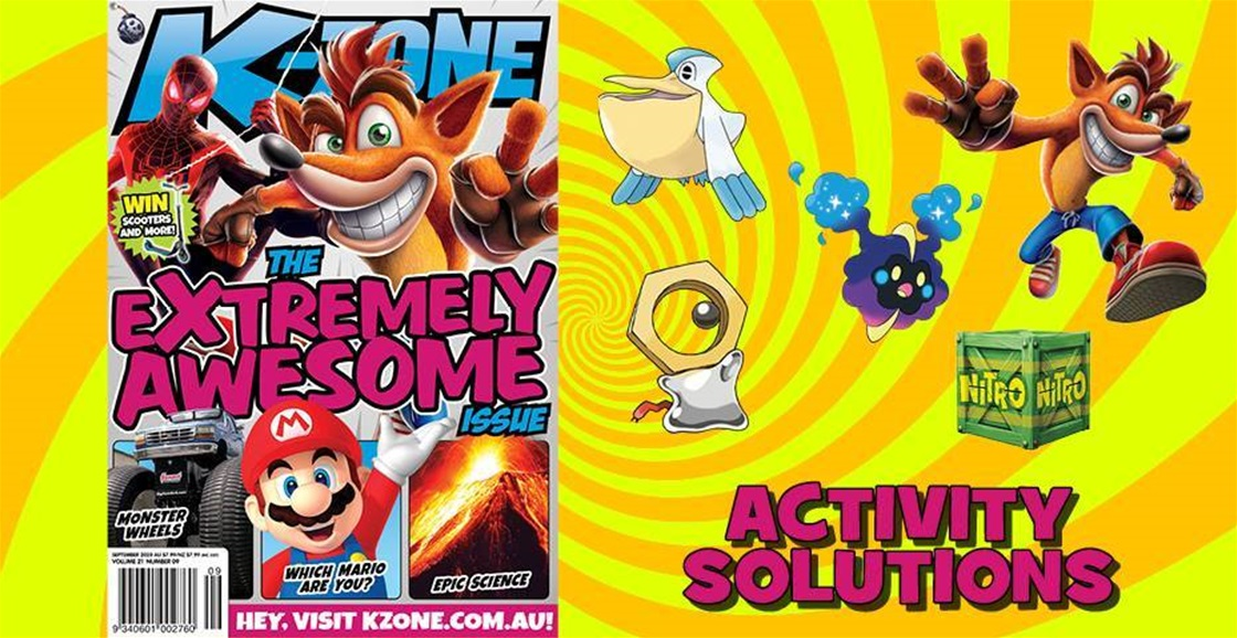 SEPTEMBER 2020 ISSUE ACTIVITY SOLUTIONS