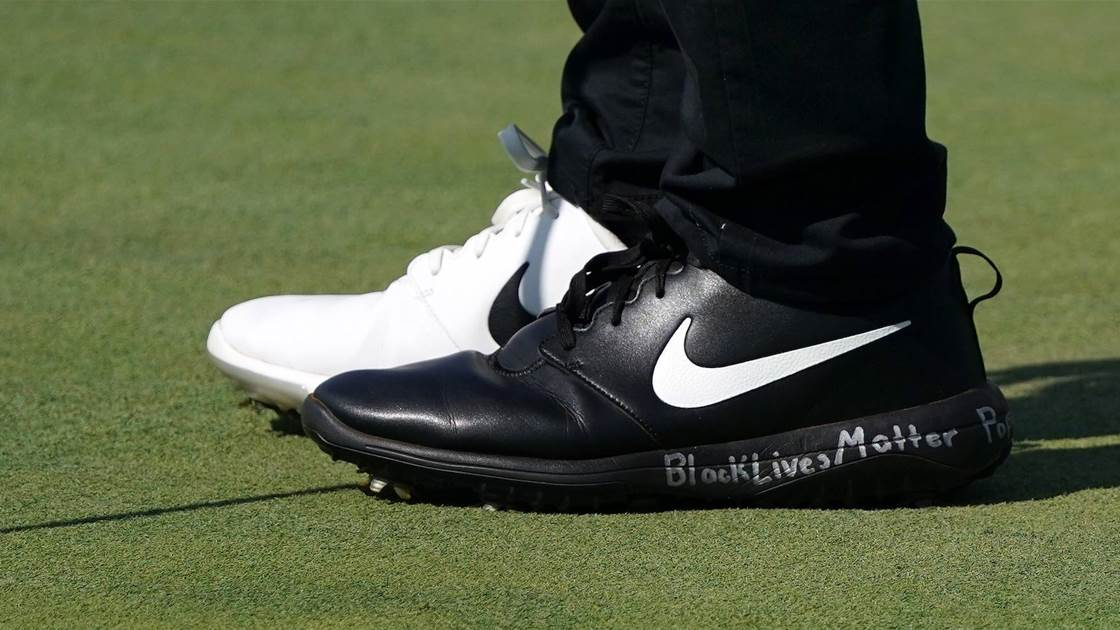 Champ's shoes and words make big statement