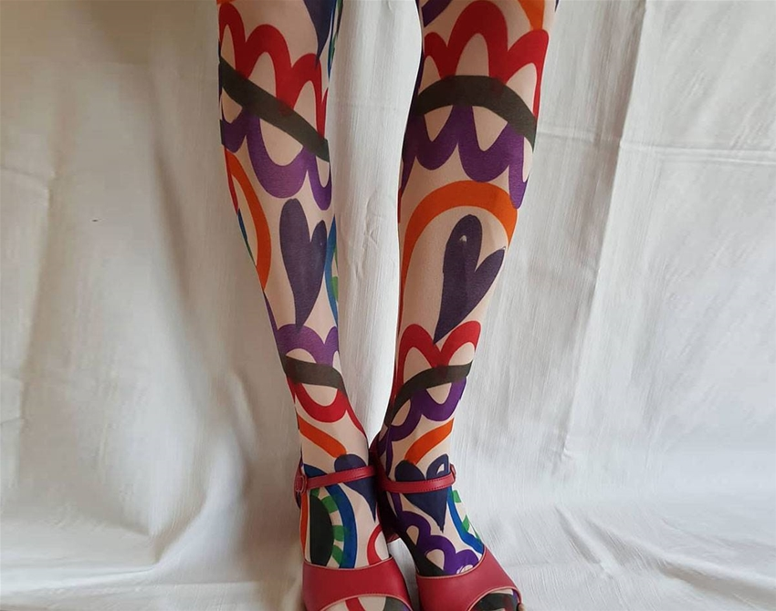 say hello to some rad hand-painted tights