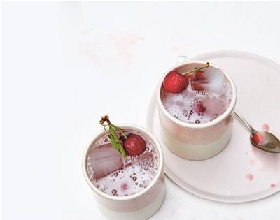 summer recipes: cherry shrub and peach granita