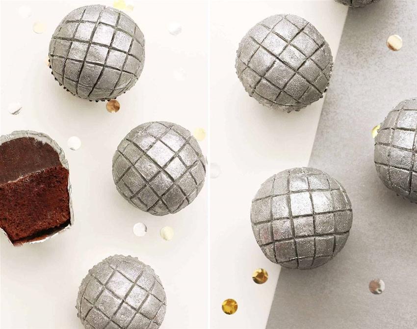 disco-ball cupcakes