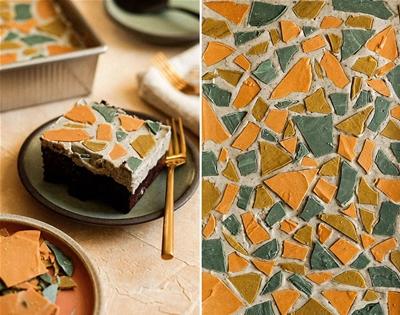 terrazzo sheet cake