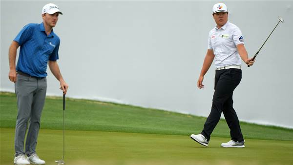 Sungjae overcomes nerves to notch opening win at WGC-Match Play