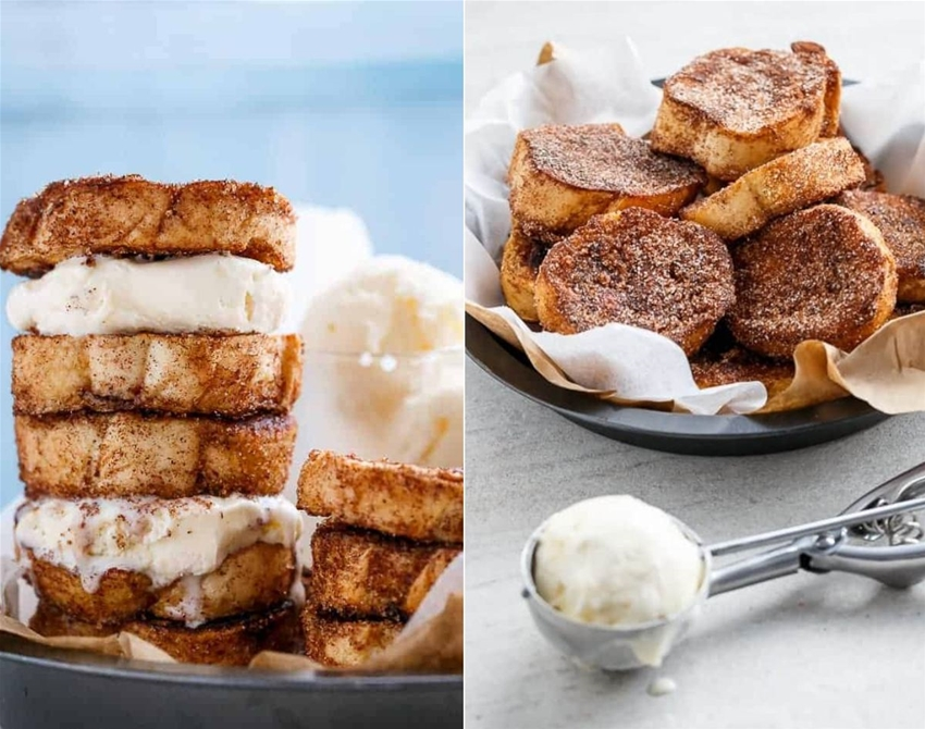 churro french toast ice-cream sandwich