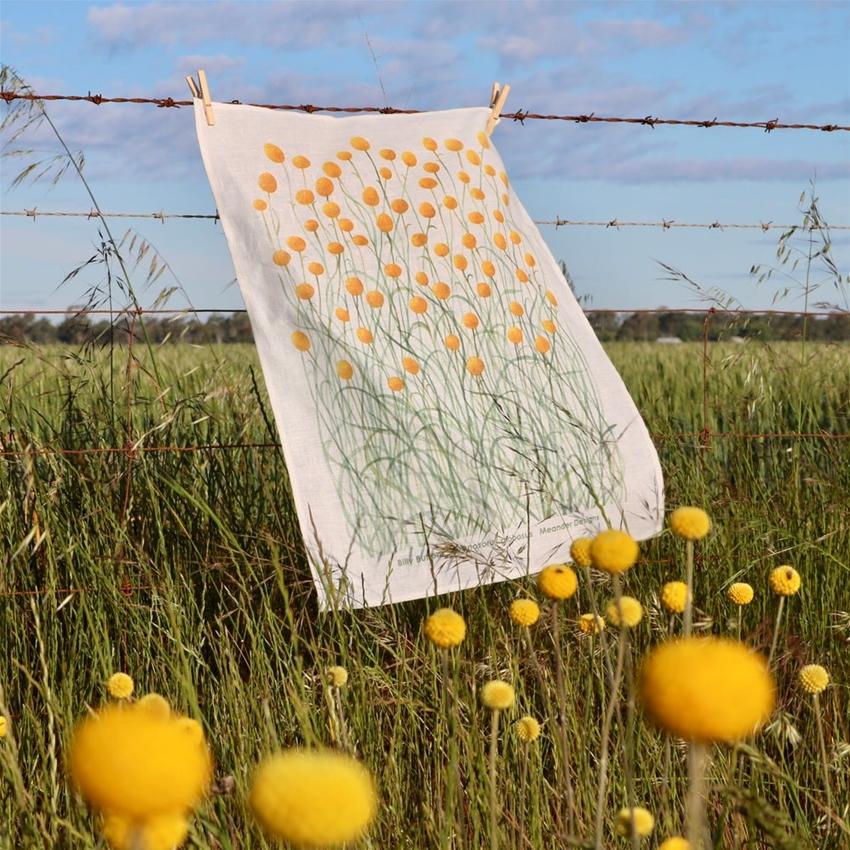 meander makes lovely botanical tea towels