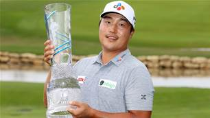 Lee's maiden PGA Tour win lands major spot