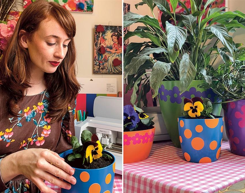 frankie exclusive diy: flower power pots