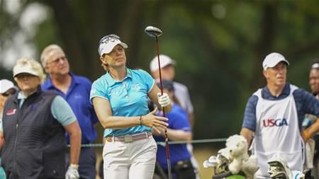 Sorenstam tied at the top of rain affected U.S. Senior Women's Open