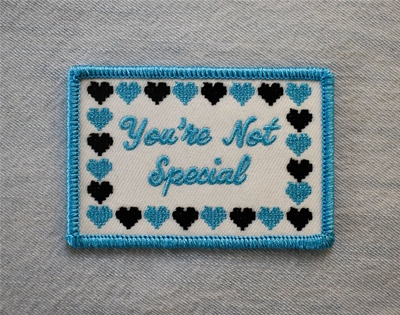 tough love in the form of an embroidered patch