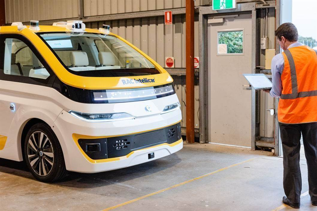 Driverless taxi arrives in Australia for closed-track tests