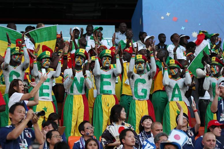 Australian and Senegal fans' powerful moment