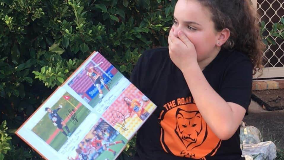 Young Roar fan gets the surprise of her life