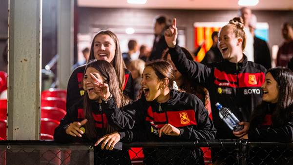 Lionesses celebrating Female Football Week