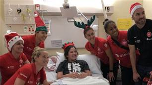 Wanderers spreading Christmas cheer