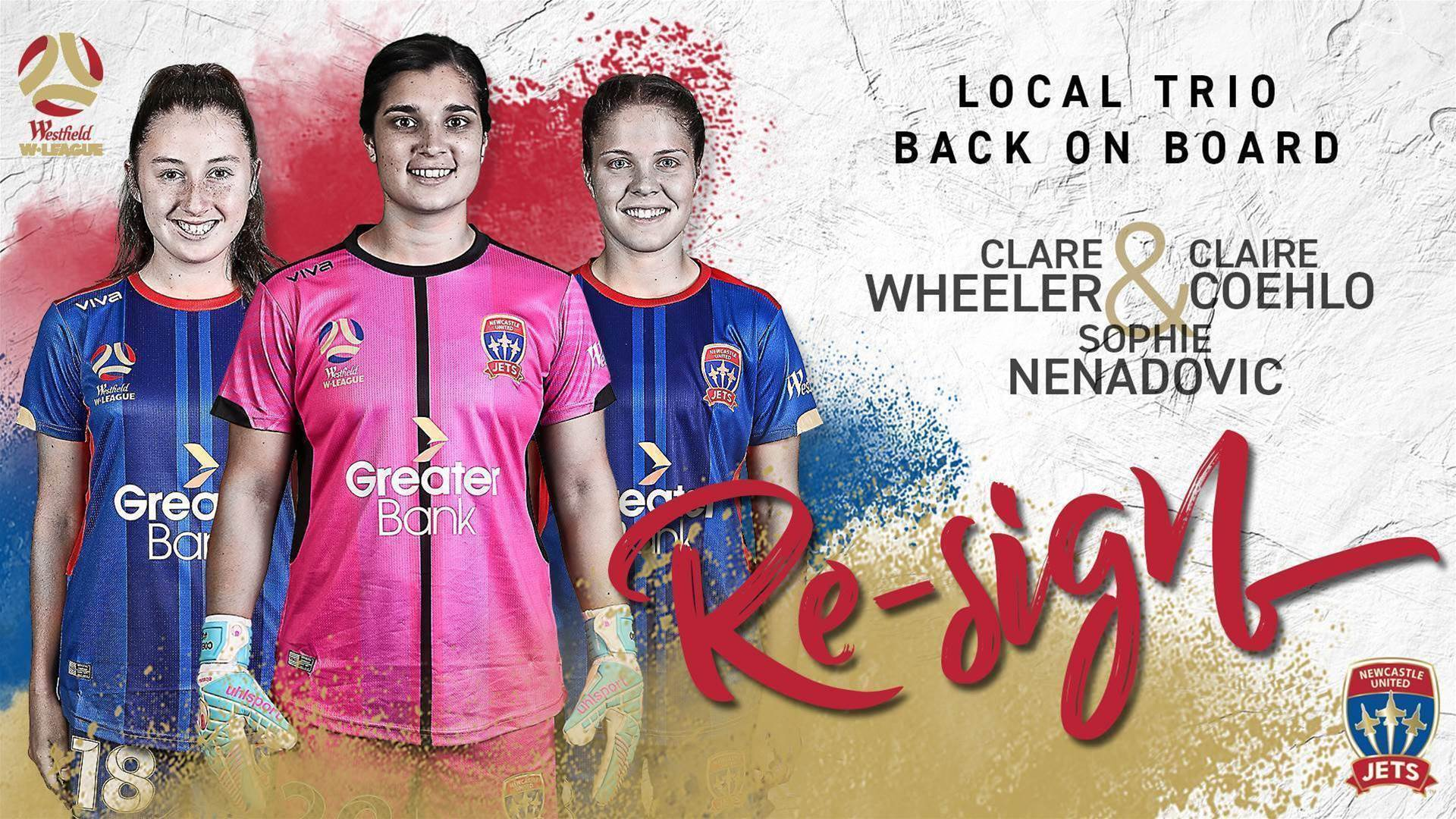 Jets re-sign defensive trio, Adelaide sign NPLW Champion