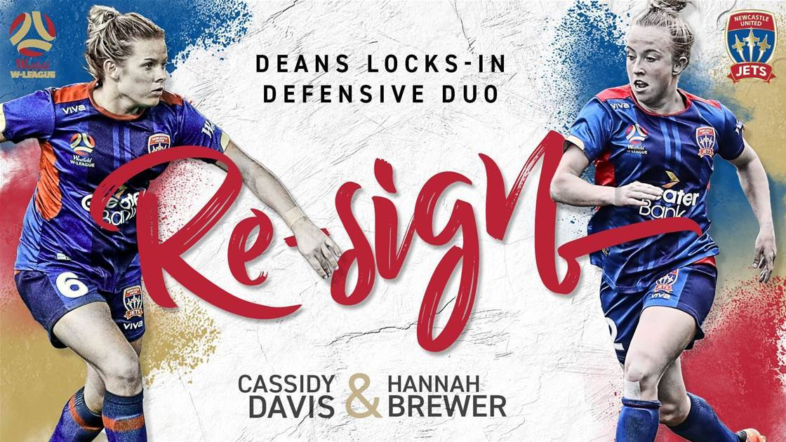 Newcastle Jets lock in defensive duo