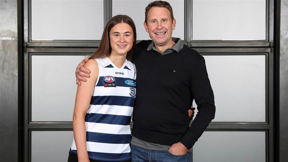Millie Makes History: AFLW Father-Daughter goes Geelong's way