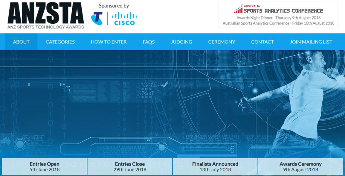 Announcing the ANZ Sports Technology Awards