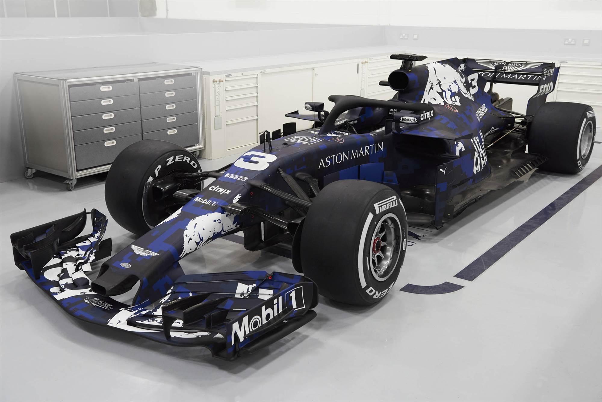 New Red Bull F1 car breaks cover